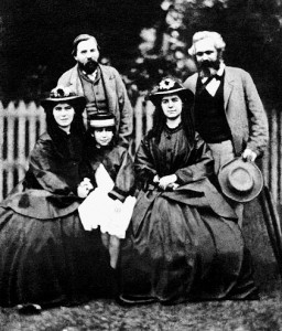 Friedrich Engels, with Karl Marx and Marx's wife Jenny and their children Laura and Eleanor