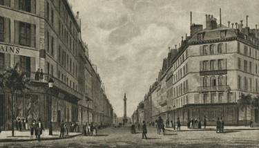 Paris in the 1840s, where Marx lived from October 1843 to January 1845.