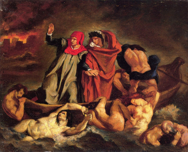 The Barque of Dante by Eugène Delacroix, 1822