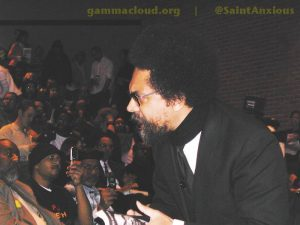 Cornel West addressing students and attendees at WSU; Jan. 26, 2006.
